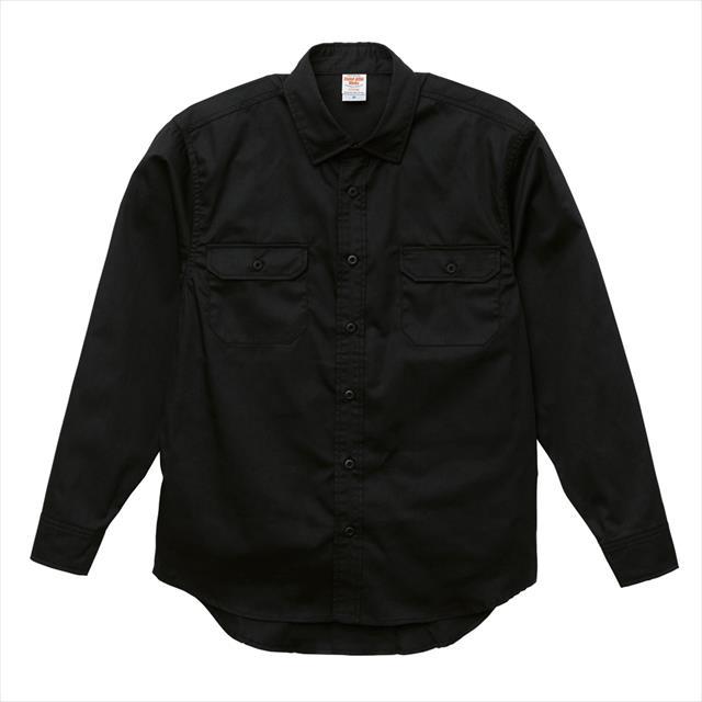 ワーク ツイル ロングスリーブシャツ カジュアル 無地 レディース メンズ