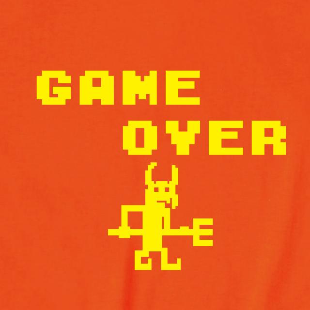 ゲームオーバーロゴプリントTシャツ
