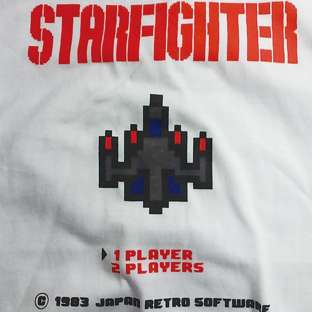 レトロゲームプリントTシャツ ミッシーミスター オリジナルプリントTシャツ ファミコン シューティング