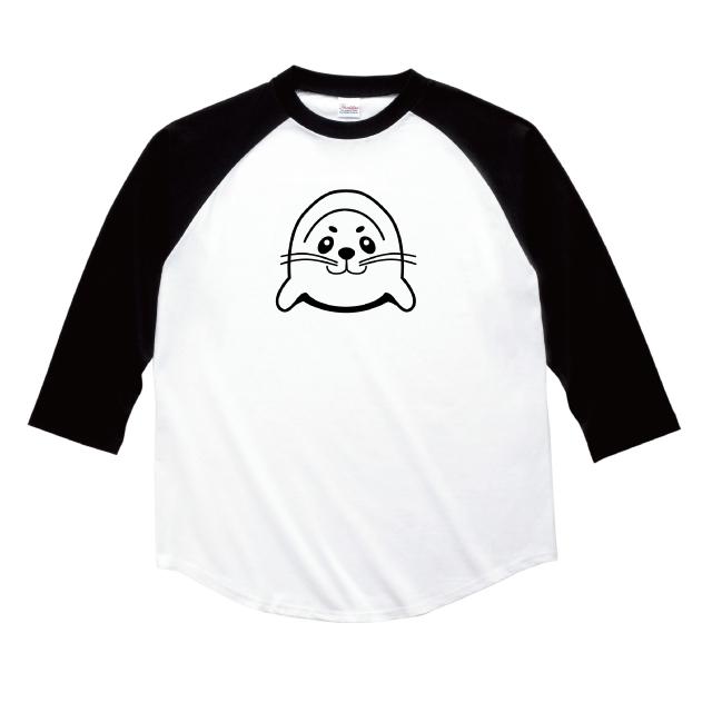アザラシプリント七分袖Tシャツ オリジナル 受注生産