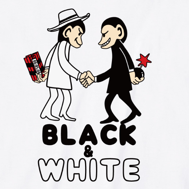 Black & Ehite プリントTシャツ サル オリジナル レディースファッション 通販