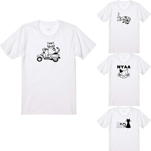 ネコプリントTシャツ オリジナル レディースファッション 通販 エナー