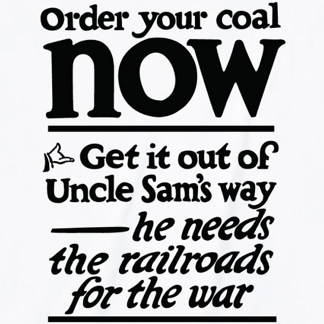 Order your coal now プリントTシャツ オリジナル ファッション