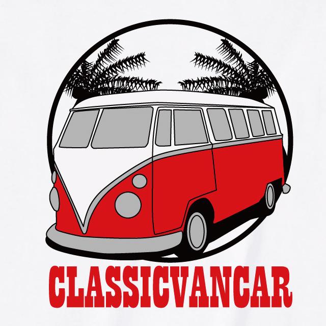 クラシックカーバンプリントTシャツ 自動車 オリジナル ロゴ