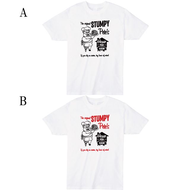 STUMPY プリントTシャツ ブタ ロゴ オリジナル