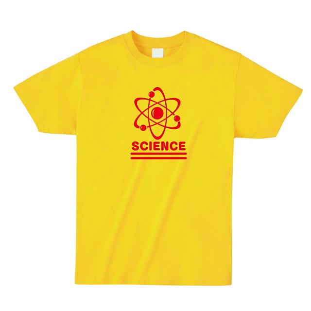 サイエンスロゴプリントTシャツ 原子マーク オリジナル 科学