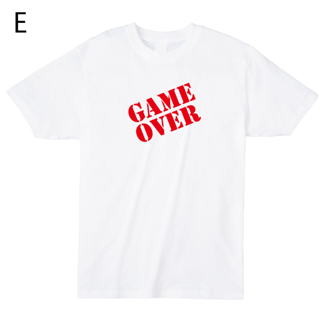 ゲームオーバーロゴTシャツ オリジナル ドット文字