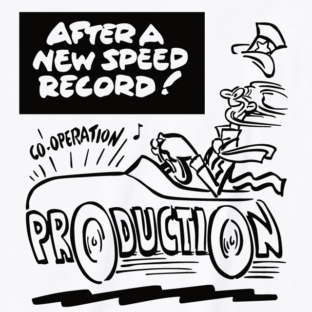 AFTER A NEW SPEED RECORD プリントTシャツ オリジナル