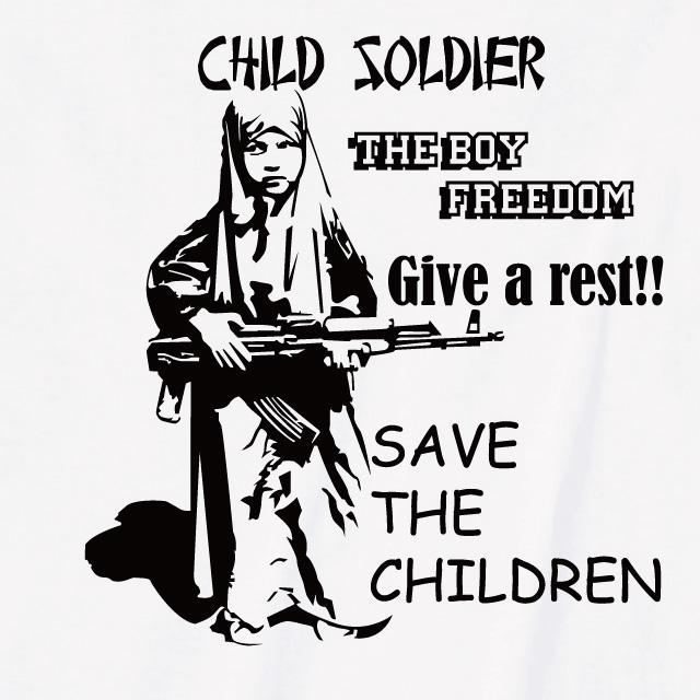 少年兵プリントtシャツ おもしろ ロゴ ミリタリー