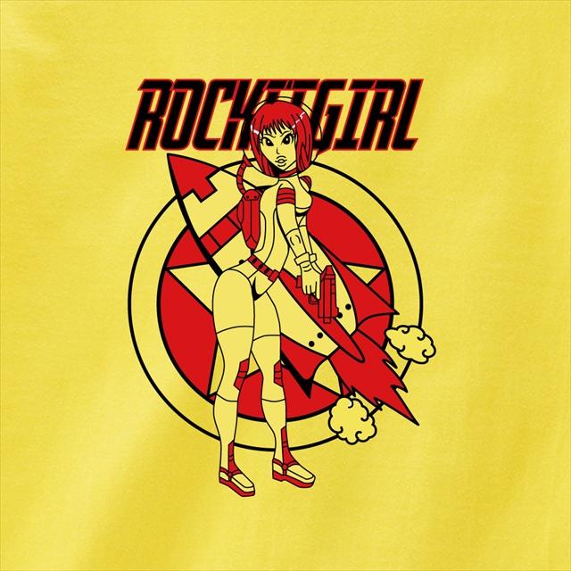 ロケットガールプリントTシャツ おもしろ キャラクター オリジナル メンズ レディース