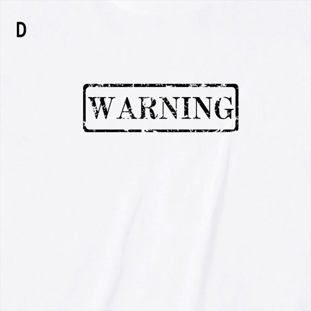 WARNINGロゴTシャツ トップス 半袖 英字 アメカジ オリジナル メンズ レディース