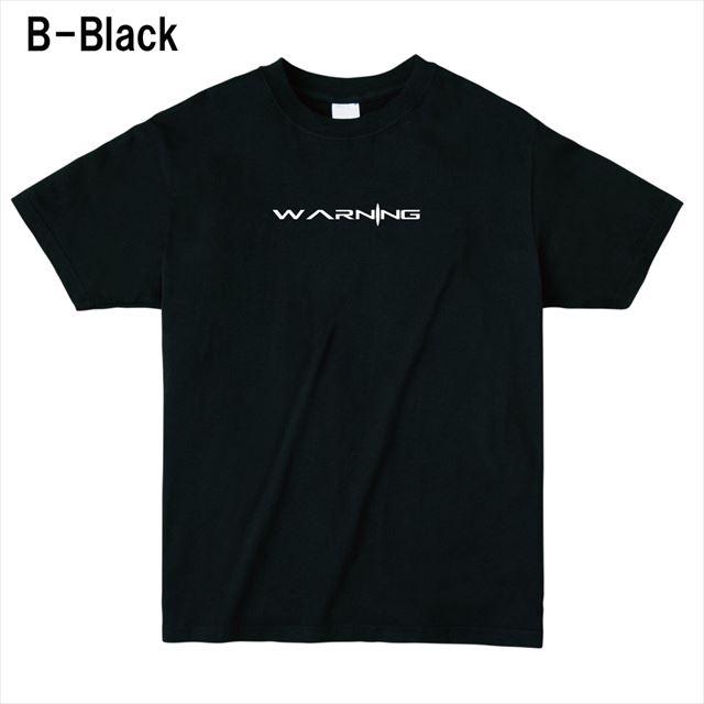 WARNINGロゴTシャツ トップス 半袖 英字 アメカジ オリジナル メンズ レディース 黒
