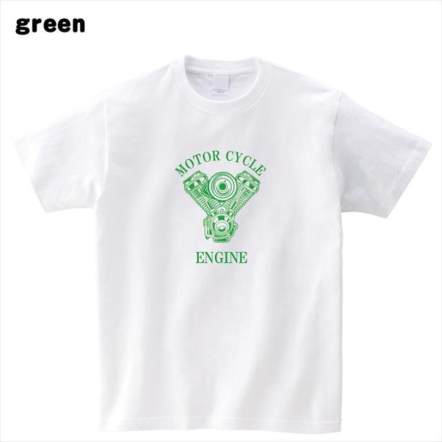 エンジン プリントTシャツ 機械 ロゴ おもしろ レディース メンズ