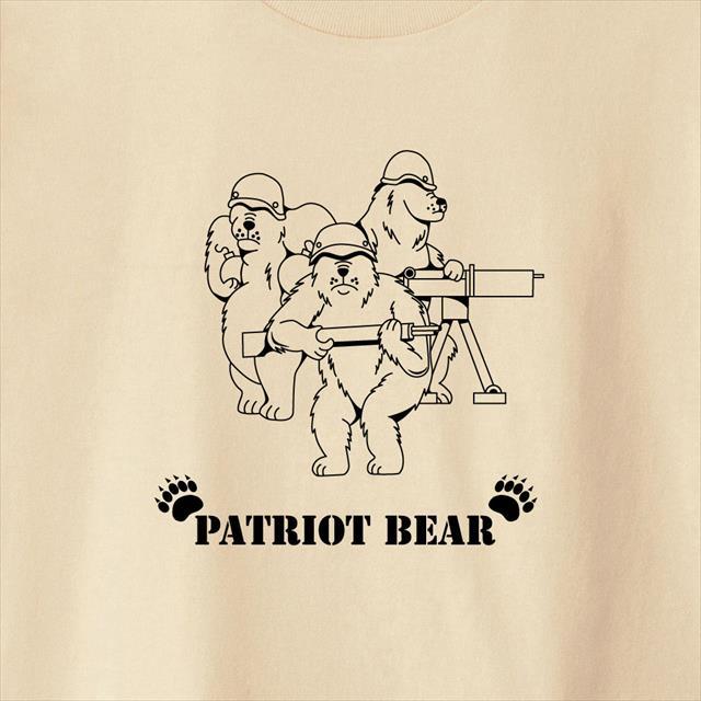 パトリオットベアTシャツ おもしろ 動物 アニマル ミリタリー キャラクター