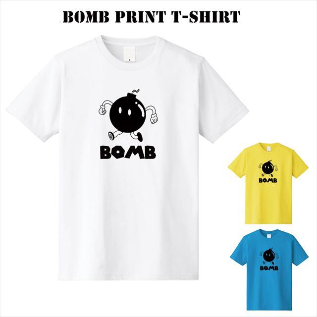 爆弾プリントTシャツ おもしろ キャラクター アメコミ POPイラスト オリジナル