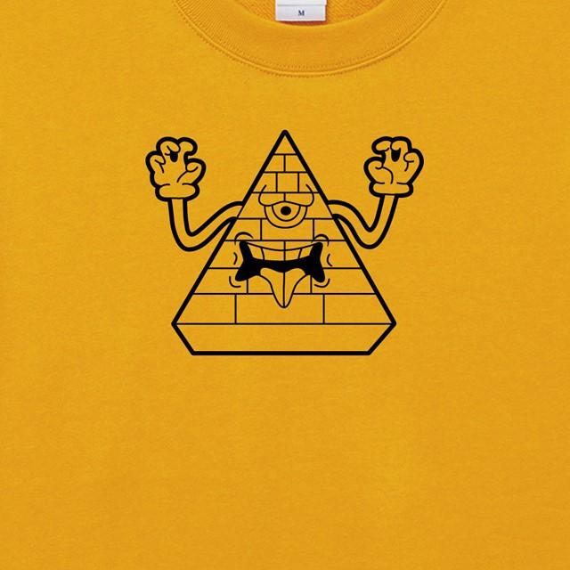 モンスターピラミッドプリントスウェット おもしろ キャラクター オリジナル 商品 メンズ レディース