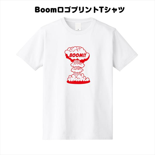 BoomロゴプリントTシャツ おもしろ メンズ レディース