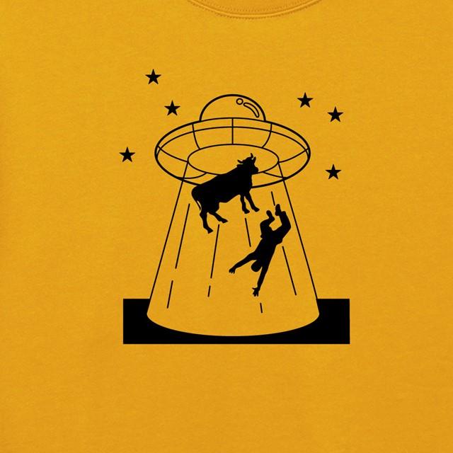 UFOプリントスウェット おもしろ 秋冬 メンズ レディース