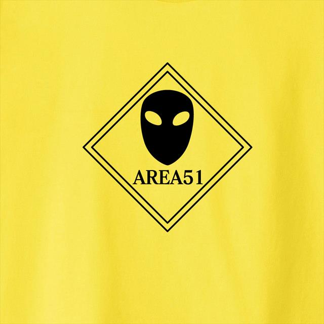 AREA51プリントTシャツ UFO メンズ レディース