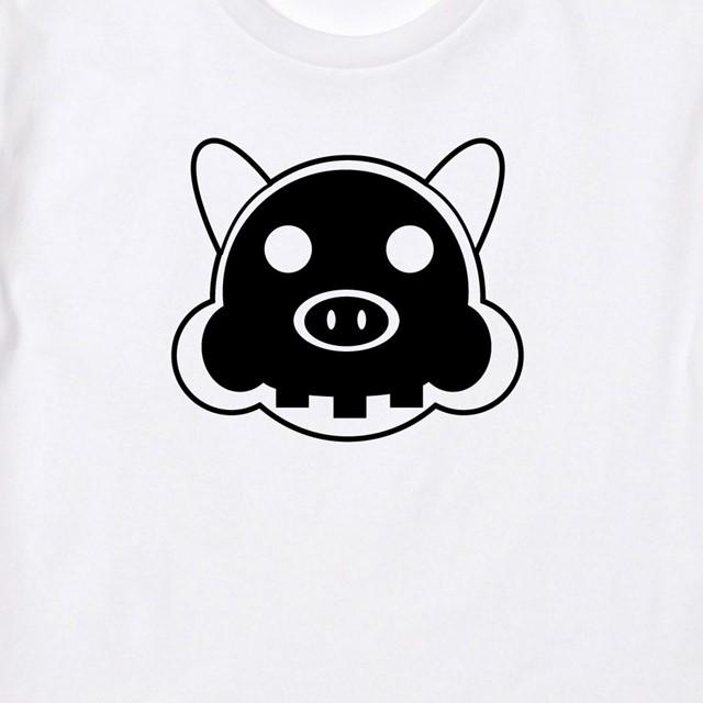 骨まで丸見え豚プリントTシャツ メンズ レディース