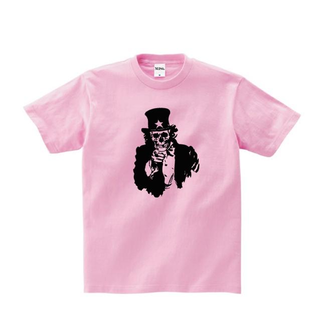Tシャツ トップス アンクル・サム スカル シルクスクリーン