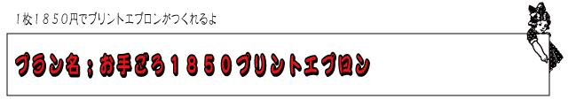 オリジナルプリント 1850円 エプロン