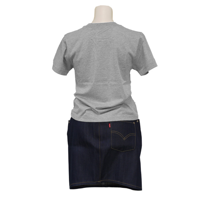 リーバイスデニムスカートとプリントTシャツ 上下セット