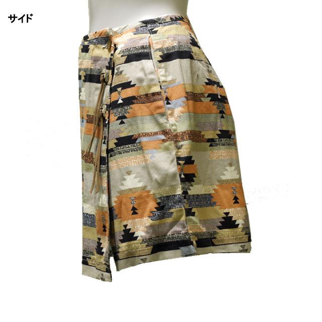 スカート風ショートパンツ カジュアル 迷彩